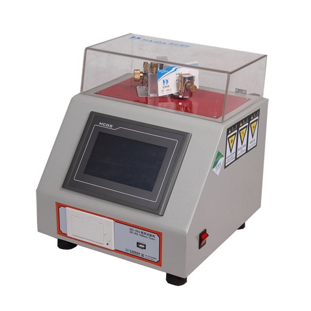 Electronic stiffness of the paper tester