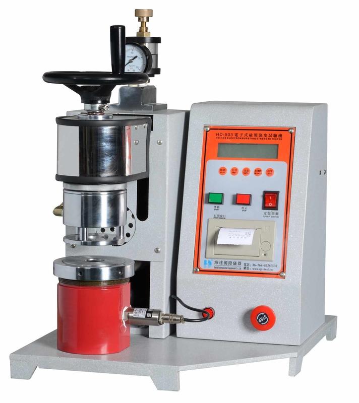 Semi-automatic paper bursting strength testing equipment