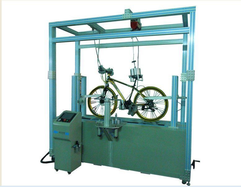 Bicycle dynamic road testing machine