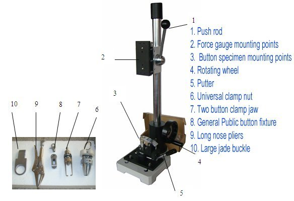 Button pull tensile test equipment