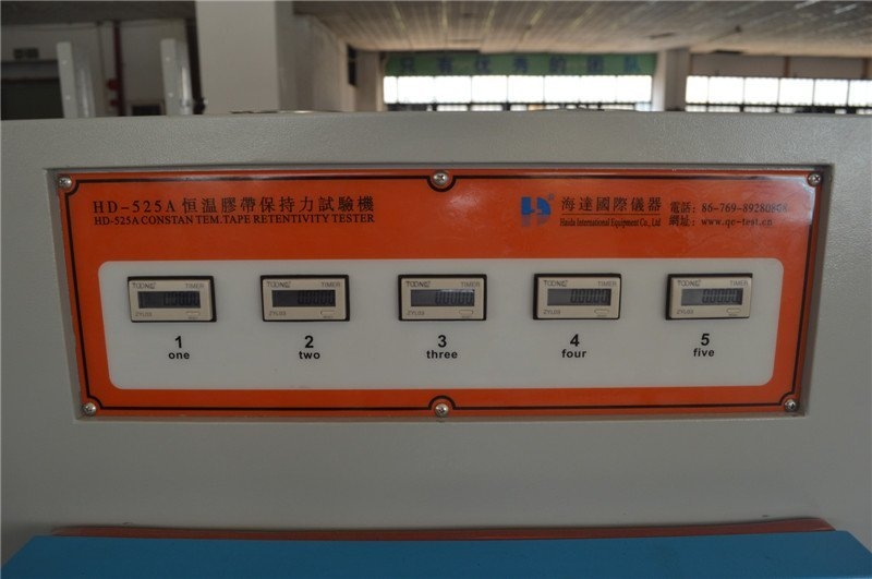 Constant TEMP tape retentivity testing chamber
