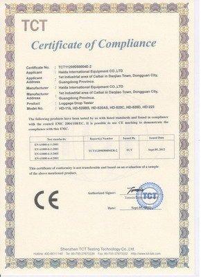 CE certificate Series