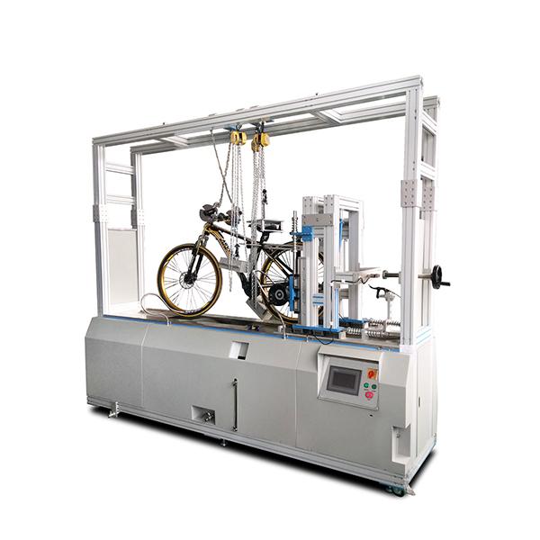 Bicycle dynamic road testing machine