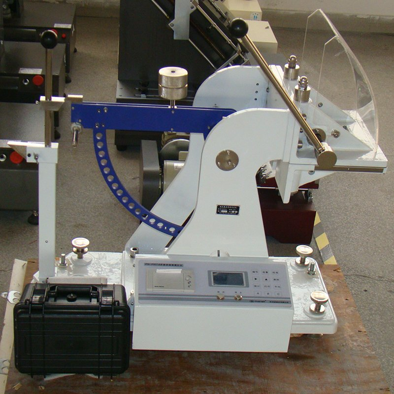 Cardboard puncture resistance testing equipment