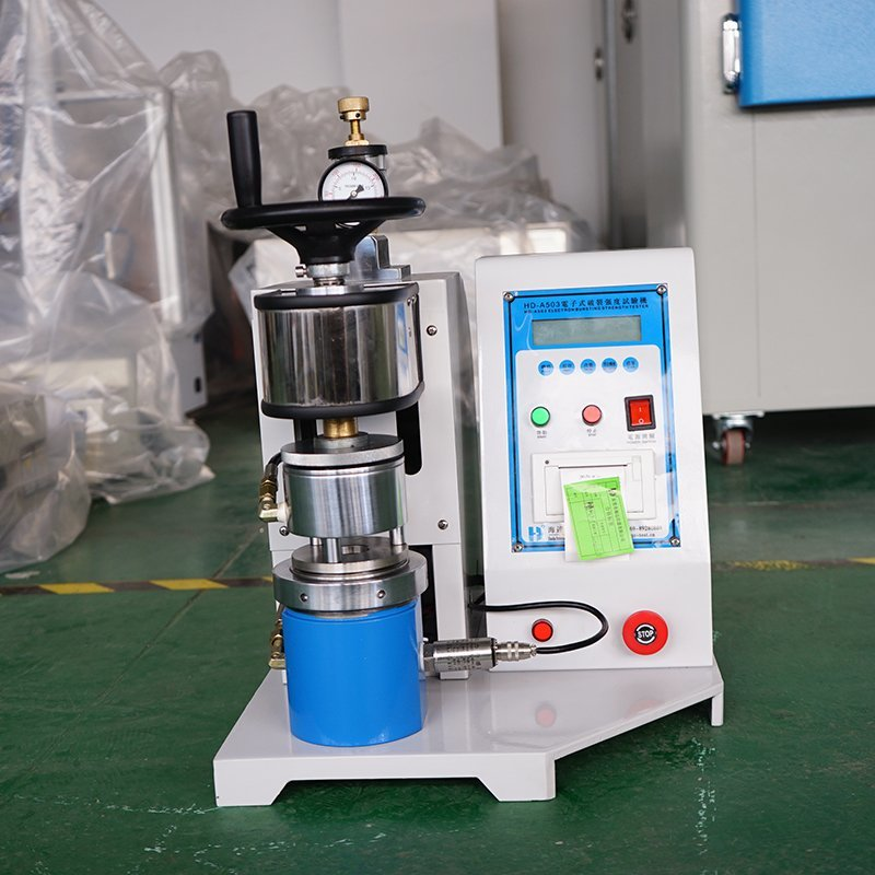 Paper bursting strength testing machine